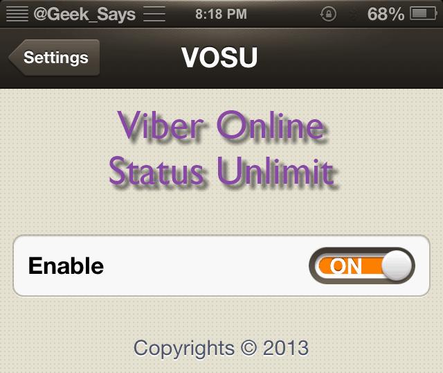 Viber Online Status Toggle