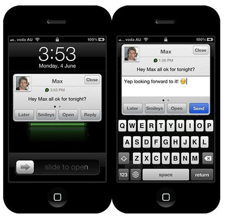 iOS 7 Messaging App