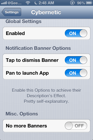 Cybernetic Cydia Tweak