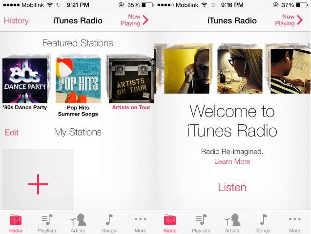 iTunes Radio Outside US