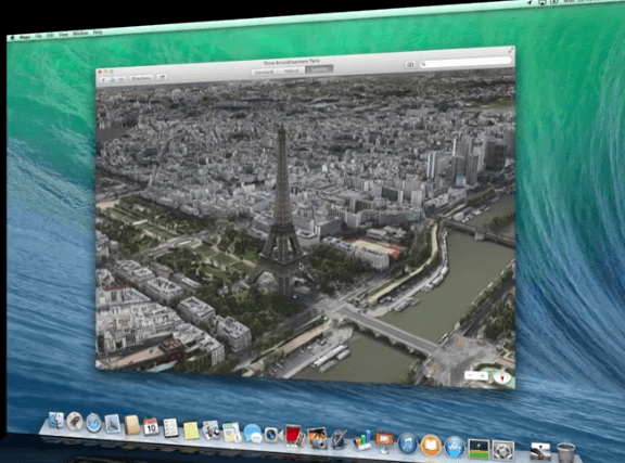 Apple Maps on OS X Mavericks