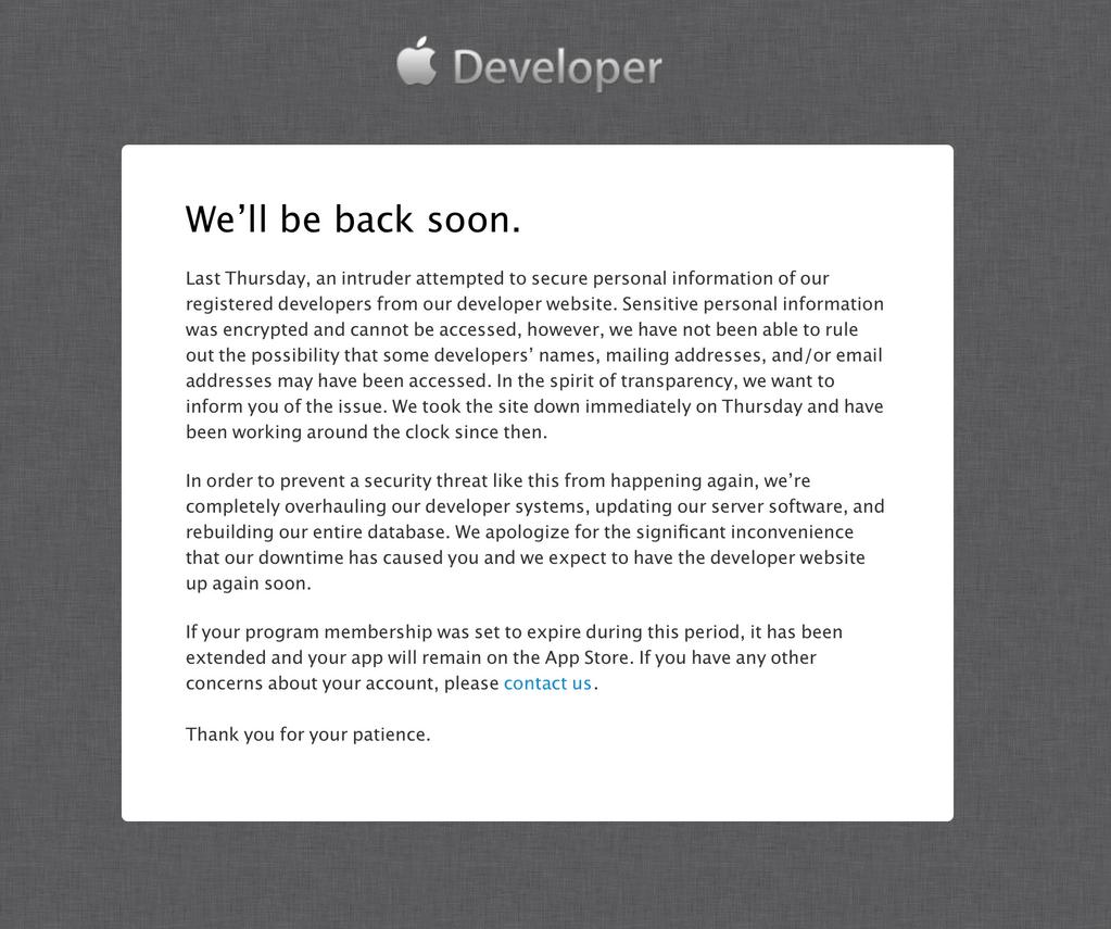 developer center hack