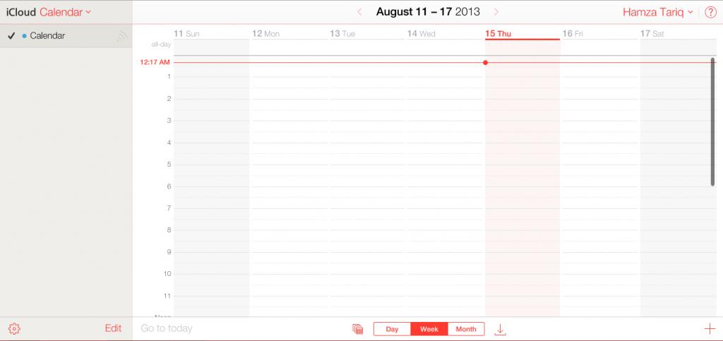 iCloud-Calendar