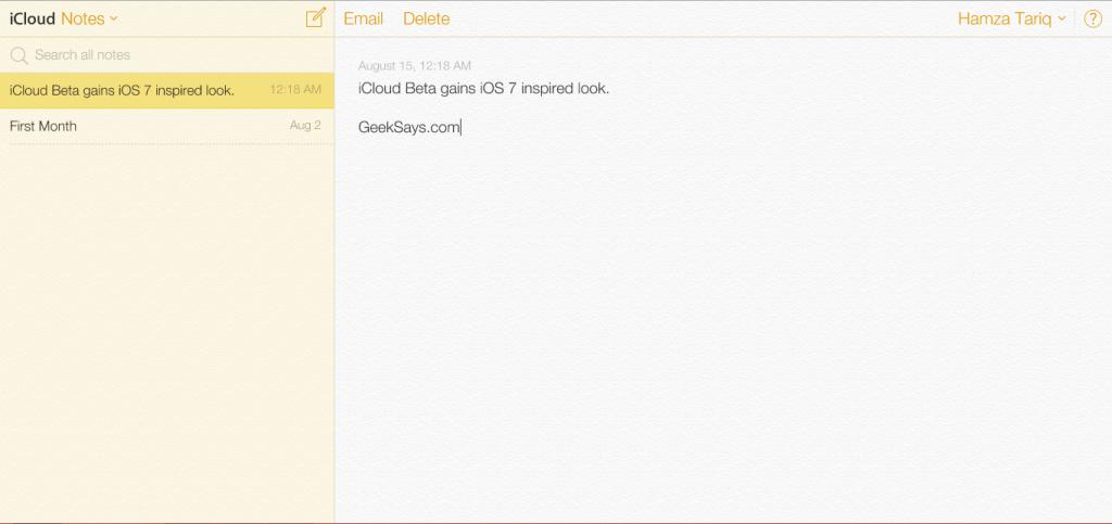 iCloud-Notes