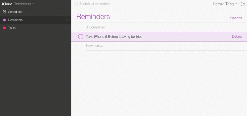 iCloud-Reminders
