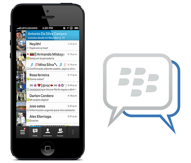 blackberry messenger for iphone