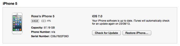 Install iOS 7 iTunes