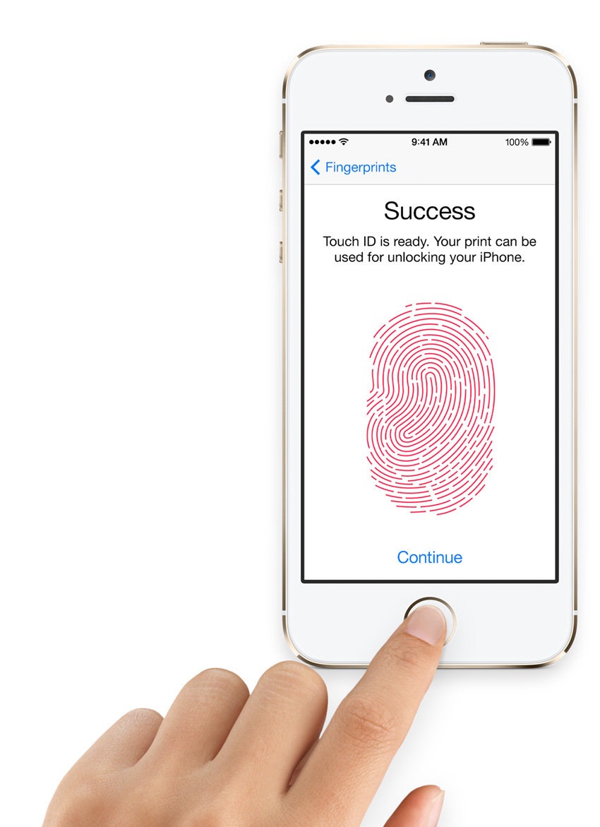 iPhone 5s Touch ID in action