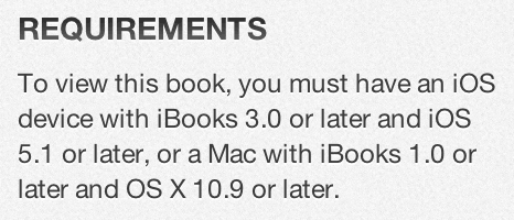 iBooks 3.0 Requirements