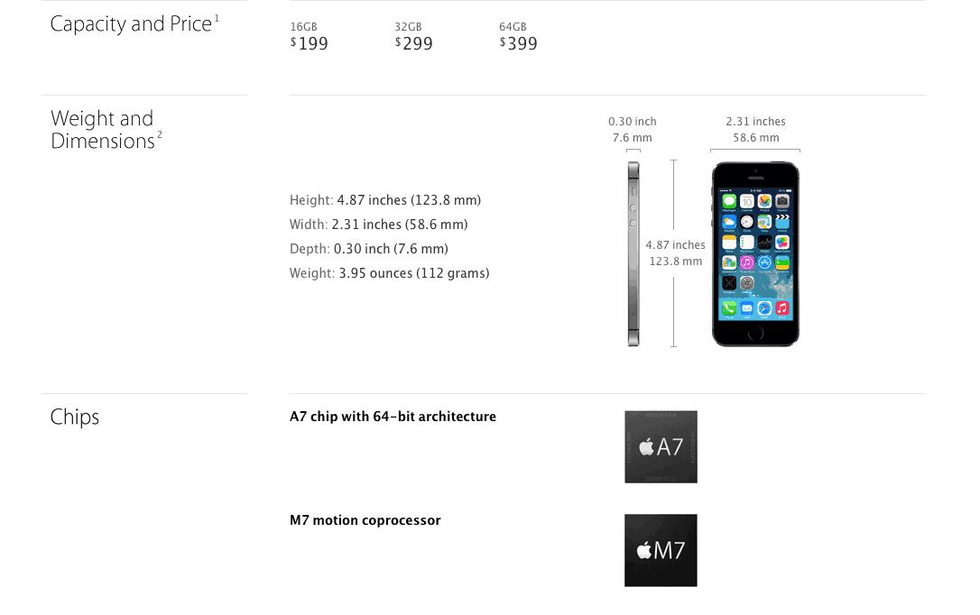 iphone 5s a7 processor
