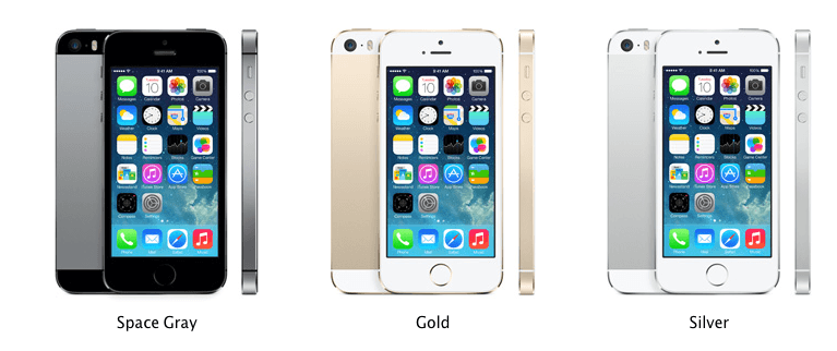 iPhone 5S Different Colors
