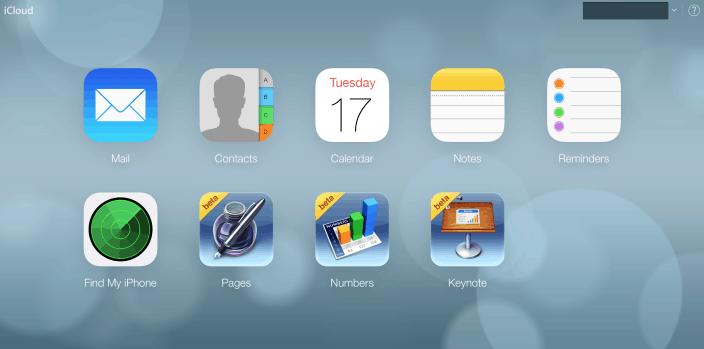iOS 7 iCloud Website